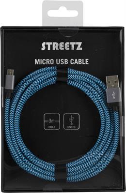 Mobil laddningskabel Micro-USB 3m
