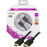 1m Deltaco HDMI Svart