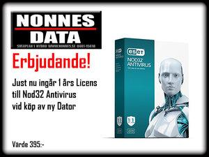 Just NU ESET NOD32 1års Antivirus ingår vid köp av Dator