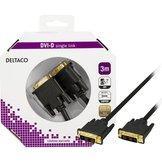 3m Deltaco DVI-D single link Svart