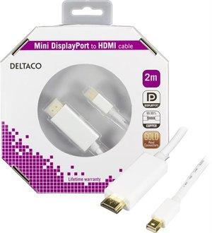 2m Mini Displayport till HDMI Vit