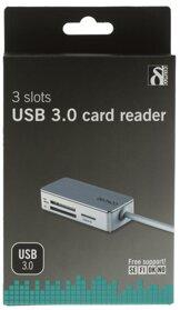 Deltaco Minneskortläsare USB 3.0