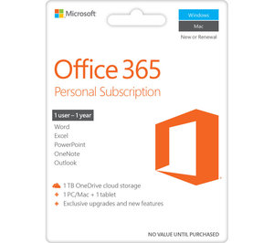 Microsoft Office 365 1 års Prenumeration 1PC