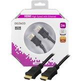 2m Deltaco HDMI Svart